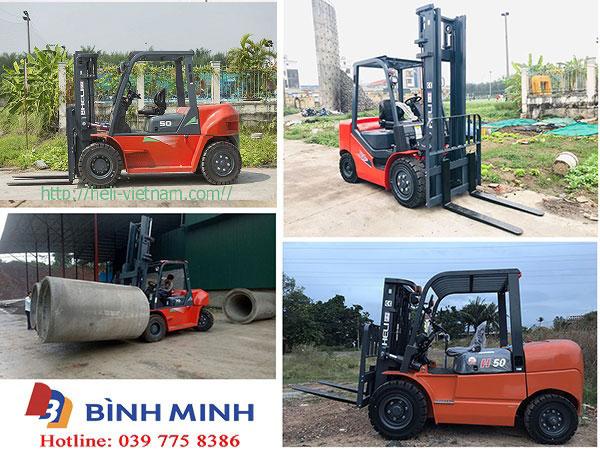 Các sản phẩm xe nâng đã bán tại Bình Phước